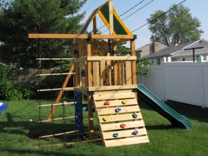 Swing set left side